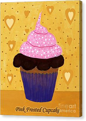 Pink Frosted Cupcake Canvas Print