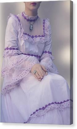 Pink Wedding Dress Canvas Print by Joana Kruse