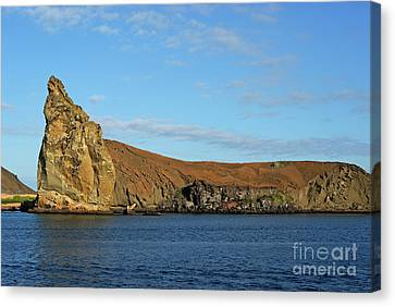 Pinnacle Rock Viewed From Sea Canvas Print by Sami Sarkis