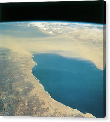 Planet Earth Viewed From Space Canvas Print by Stockbyte