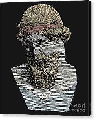 Rational Canvas Print - Plato, Ancient Greek Philosopher by Science Source