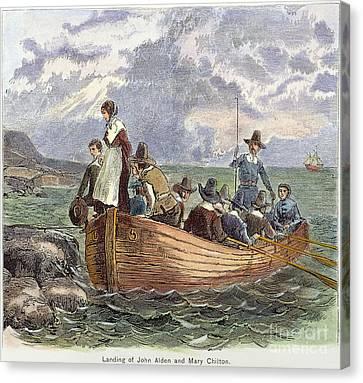 Plymouth Rock: Landing Canvas Print by Granger