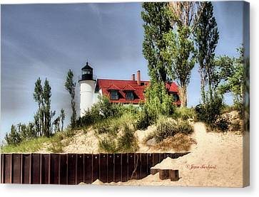Canvas Print featuring the photograph Point Betsie Lighthouse II by Joan Bertucci