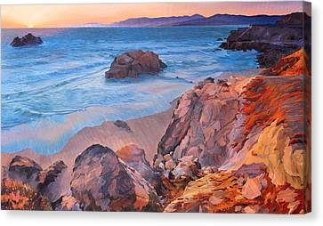 Point Lobos At San Francisco Canvas Print