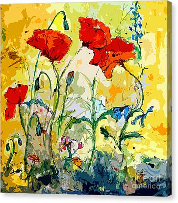Poppies Provencale Canvas Print