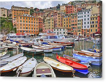 Port Of Camogli Canvas Print