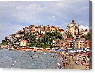 Porto Maurizio - Liguria Canvas Print by Joana Kruse