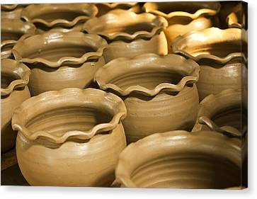 Pottery In Thailand  Canvas Print by Chatchawin Jampapha