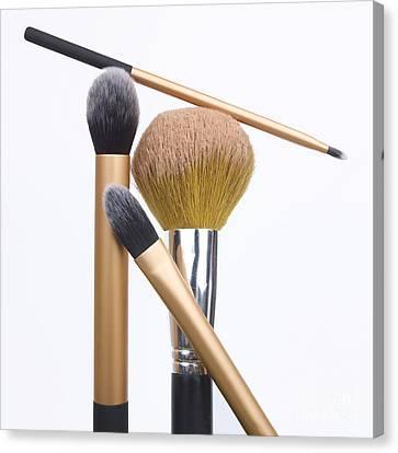 Powder And Make-up Brushes Canvas Print by Bernard Jaubert