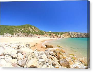 Praia Do Zavial Canvas Print by Carl Whitfield