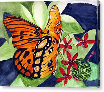 Precocious Butterfly Canvas Print by Debi Singer