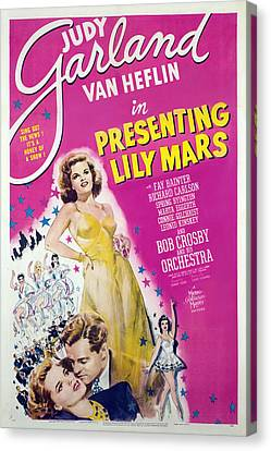 Presenting Lily Mars, Judy Garland, Van Canvas Print