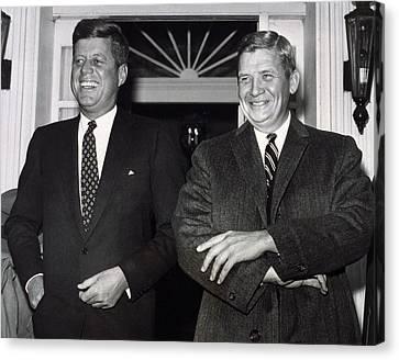 Americans Elect Canvas Print - President-elect John F. Kennedy by Everett