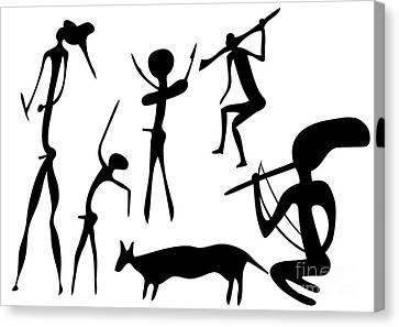 Primitive Art - Various Figures Canvas Print by Michal Boubin