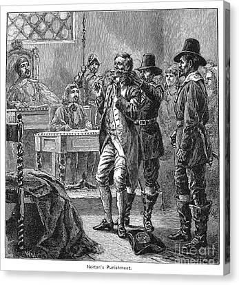 Puritan Punishment Canvas Print by Granger