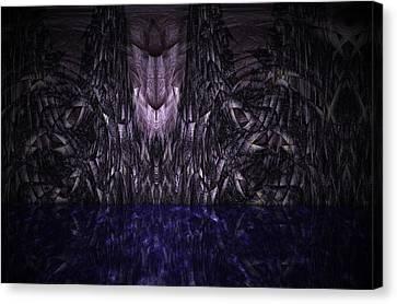 Purple Caverns Canvas Print by Christopher Gaston