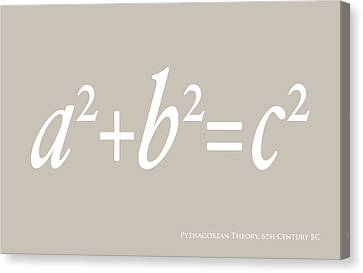 Pythagoras Maths Equation Canvas Print by Michael Tompsett