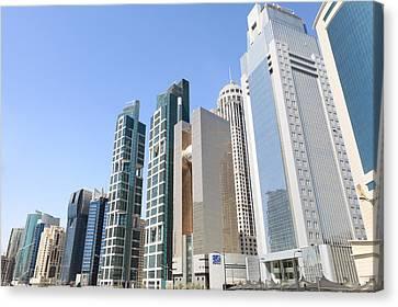 Qatars Financial Front Line Canvas Print by Paul Cowan
