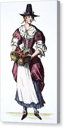 Quaker Woman 17th Century Canvas Print by Granger