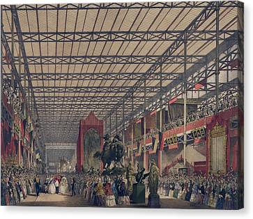 Queen Victoria With Prince Consort Canvas Print by Everett