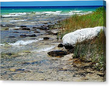 Quiet Waves Along The Shore Canvas Print