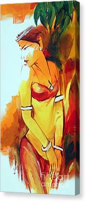 Radha Canvas Print by Manish Verma