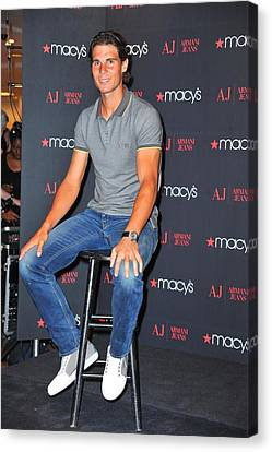 Rafael Nadal At In-store Appearance Canvas Print by Everett