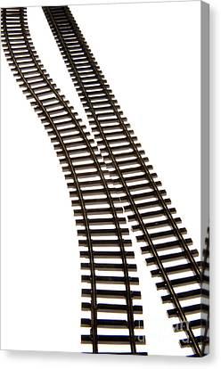 Railway Tracks Canvas Print by Bernard Jaubert