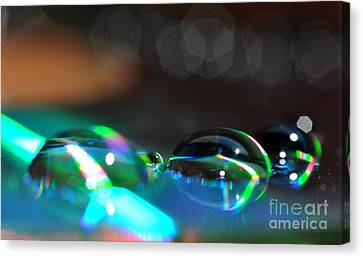 Canvas Print featuring the photograph Rainbow Drops by Sylvie Leandre
