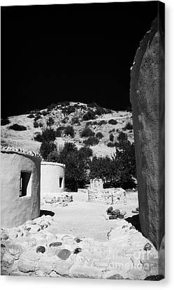 reconstruction of Choirokoitia ancient neolithic village settlement republic of cyprus Canvas Print by Joe Fox