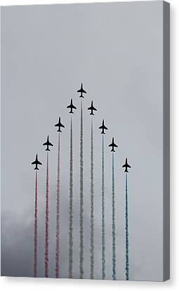 Red Arrows Vertical Canvas Print by Jasna Buncic