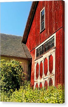 Red Barn Canvas Print by HD Connelly