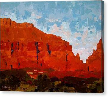 Red Cliffs Canvas Print