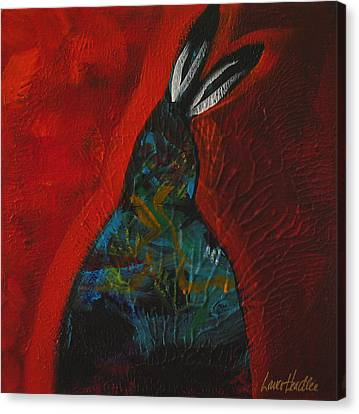 Red Feathers Canvas Print by Lance Headlee