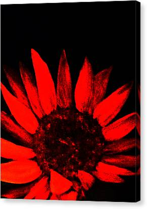 Canvas Print featuring the painting Red Flower by Monica Furlow