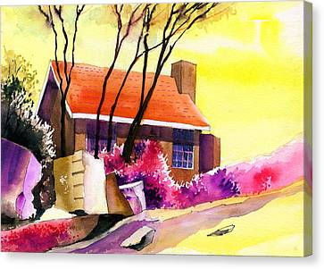 Red House Canvas Print by Anil Nene