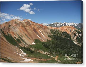 Red Mountain Canvas Print by Marta Alfred