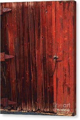 Red Shed Canvas Print by RC DeWinter