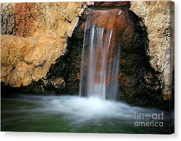 Red Waterfall Canvas Print