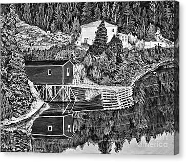 Reflections B W Canvas Print by Barbara Griffin