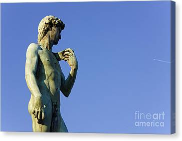 Replica Of Michelangelos David In The Piazza Michelangelo Canvas Print by Jeremy Woodhouse