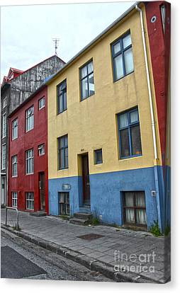 Reykjavik Iceland - Colorful House Canvas Print by Gregory Dyer