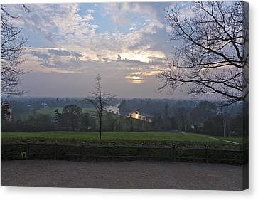 Canvas Print featuring the photograph Richmond Sunset by Maj Seda