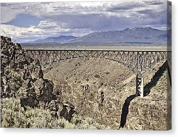 Rio Grande Gorge Bridge Canvas Print by Melany Sarafis
