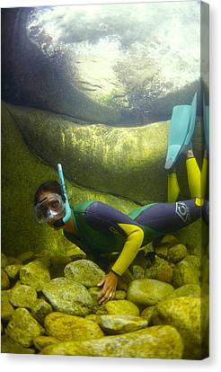 River Snorkelling Canvas Print by Alexis Rosenfeld