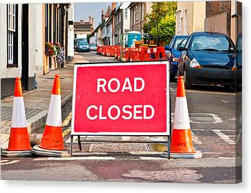 Road Closed Canvas Print by Tom Gowanlock