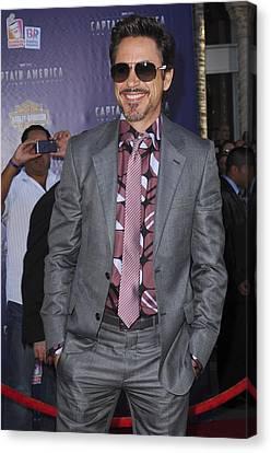 Robert Downey Jr. At Arrivals Canvas Print