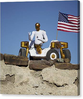Robonaut 2 Poses Atop Its New Wheeled Canvas Print by Stocktrek Images