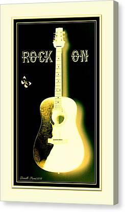 Rock On Guitar Canvas Print by Danielle  Parent