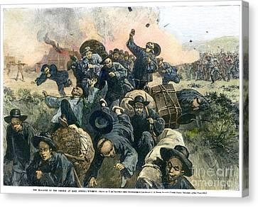 Rock Springs Massacre Canvas Print by Granger